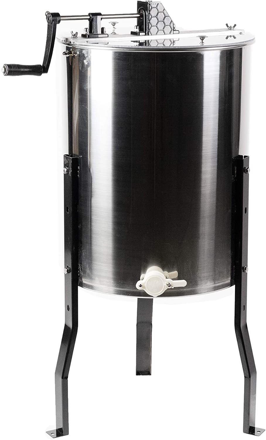 4//8 Frame Electric Honey Drum Beekeeping Honey Extractor Stainless Steel 140W