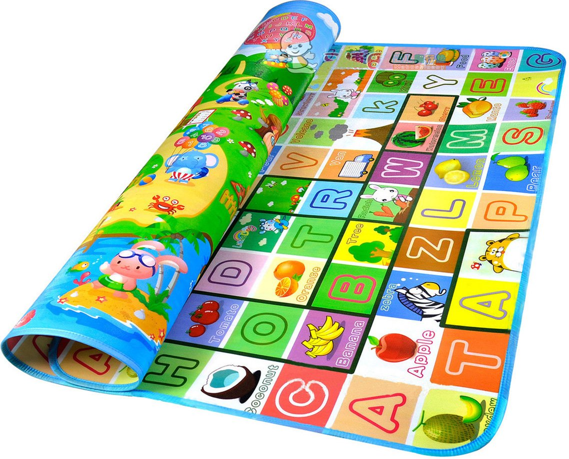 GMS 200*180*0.5cm Thickness on Both Sides Waterproof Baby Crawling Mat Baby Crawling Pad/ Game Mat (Style B)