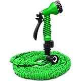 25 Feet Garden Hose, Water Hose, Hose Reel, Best Hoses, Expandable Garden Hose, with Free 7-way Spray Nozzle Flexible Hose (25ft, green)