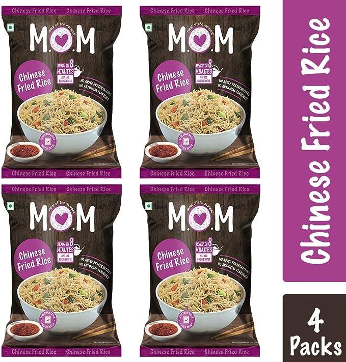 Comida del arroz frito chino bolsa (87 g) Pack 4 Momento: Amazon ...