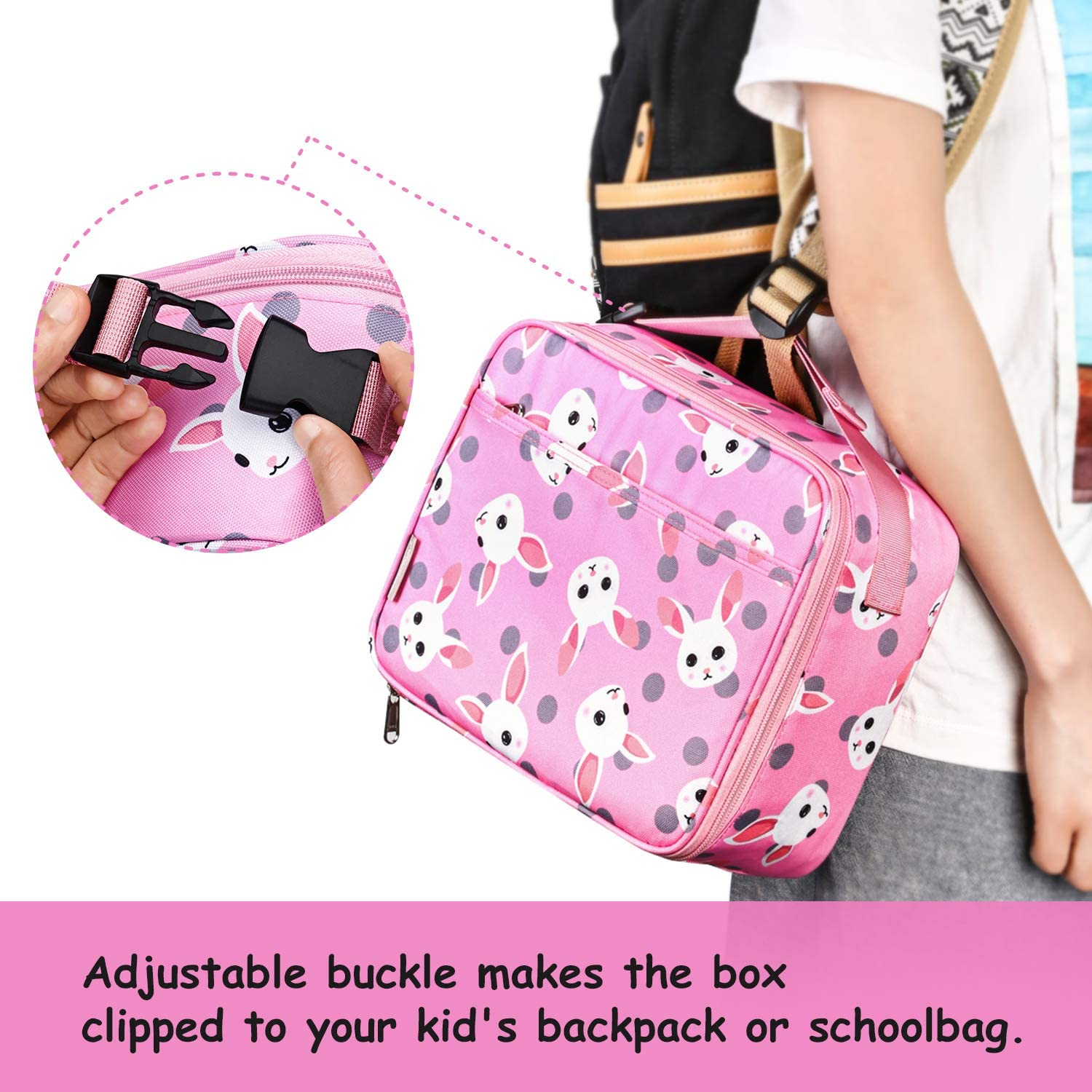 Bagmine Lunch Bag for Kids Boys Girls /& Adult Thermal Insulated Moisture Resistant Reusable Child Lunchbox with Multiple Patterns /& Card Slot for School Picnic Travel or Work