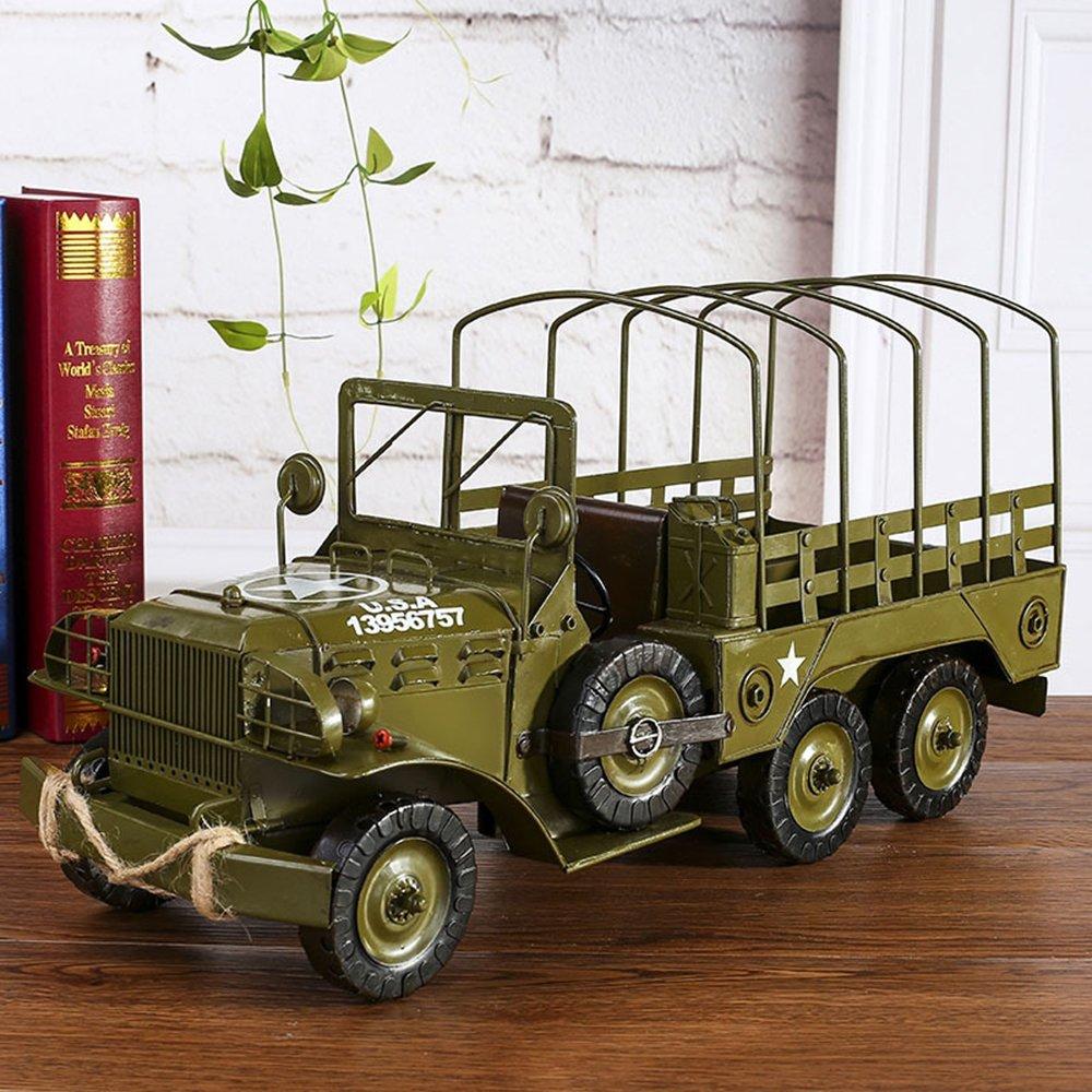 Große Metall Vintage Militär Militär Militär LKW Modell Home Dekor Dekoration Ornamente Handmadecollections Sammler Fahrzeug Spielzeug 4b2d60