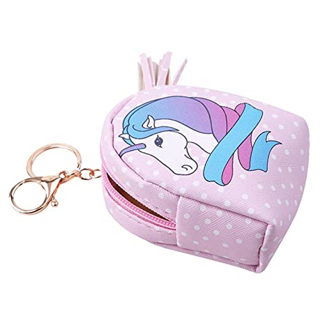 Fligatto - Mini Cartera de Unicornio de Poliuretano para Mujer, con Cierre de Cremallera