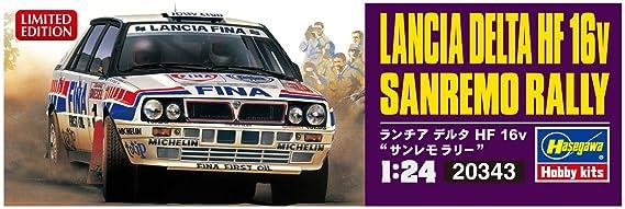 Hasegawa 020343 1/24 Lancia Delta hf16 V Sanremo Rally plástico Maqueta de, Modelo Ferrocarril Accesorios, Hobby, de construcción: Amazon.es: Juguetes y ...