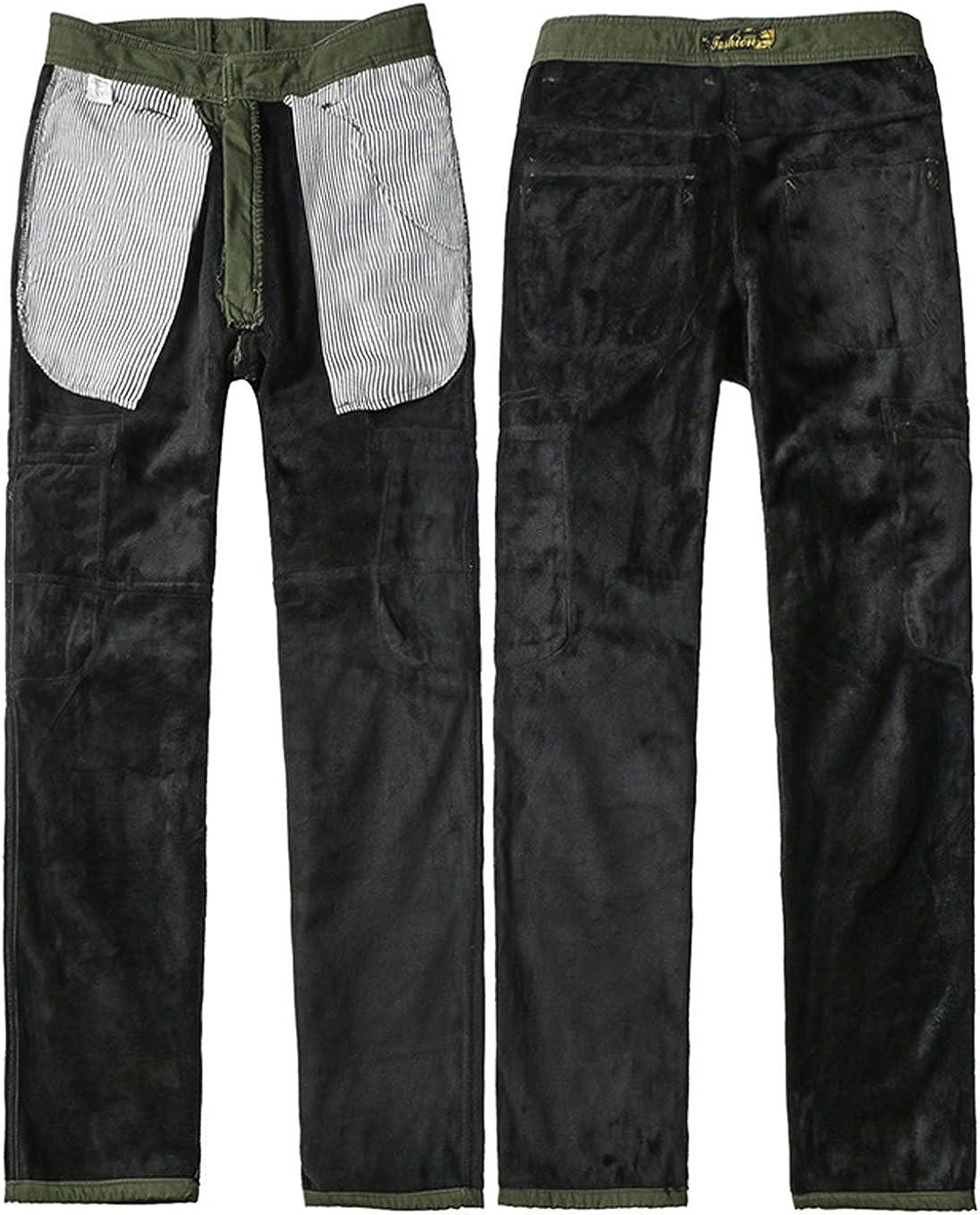 chouyatou Mens Outdoor Sports Multi Pockets Dungaree Fleece Lined Cargo Work Pants