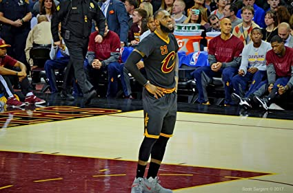 3f08314eccd4 Image Unavailable. Image not available for. Color  LeBron James Basketball  Player Sportsman 12 x 18 Inch ...