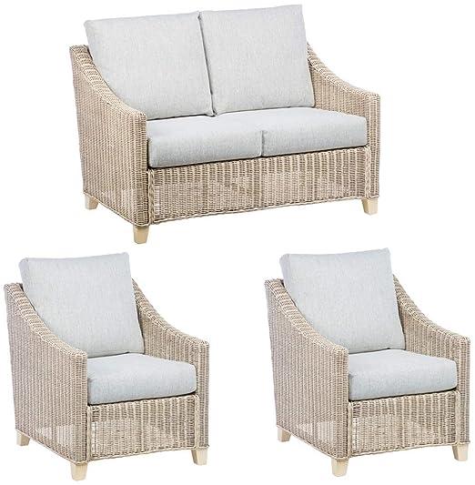 Juego de muebles para porche de caña de desierto, sofá de 2 ...