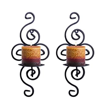 picture of Super Z Outlet Pair of Elegant Swirling Iron