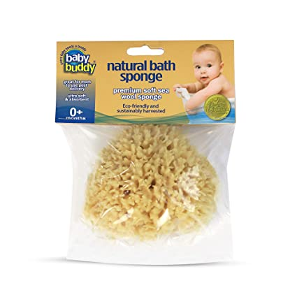 Organically Grown Baby Bath Sponge Small Natural 3 to 3.5 inches