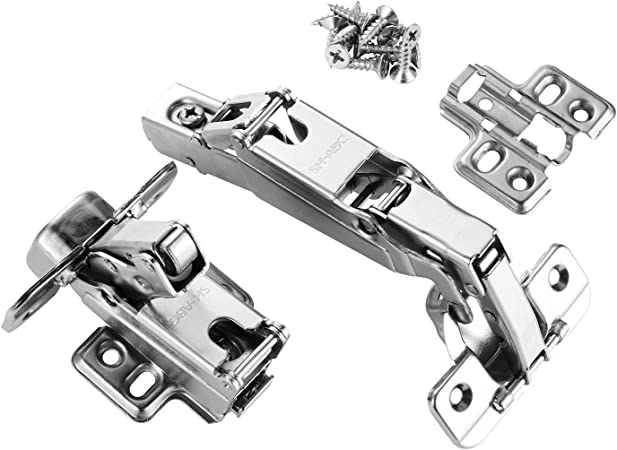 1pair Cup 1 4 Concealed Face Frame Kitchen Cabinet Door Hinges Full Overlay Cabinet Hinges