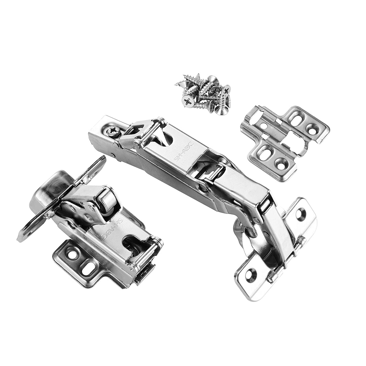 Face Frame Cabinet Hinges, SH-ABC 165 Degree Concealed Hinges for Corner  Kitchen Cabinet Door, Full Overlay, Nickel-Plated