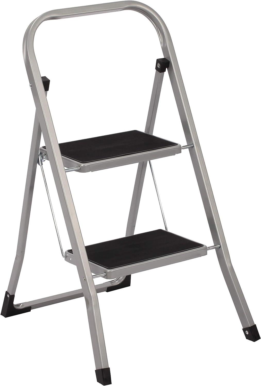 Trittleiter 2 Stufen Leiter Klapptritt Klappleiter Klapptreppe Tritt Haushaltstritt Stehleiter Sprossenleiter klappbar faltbar bis 150 kg