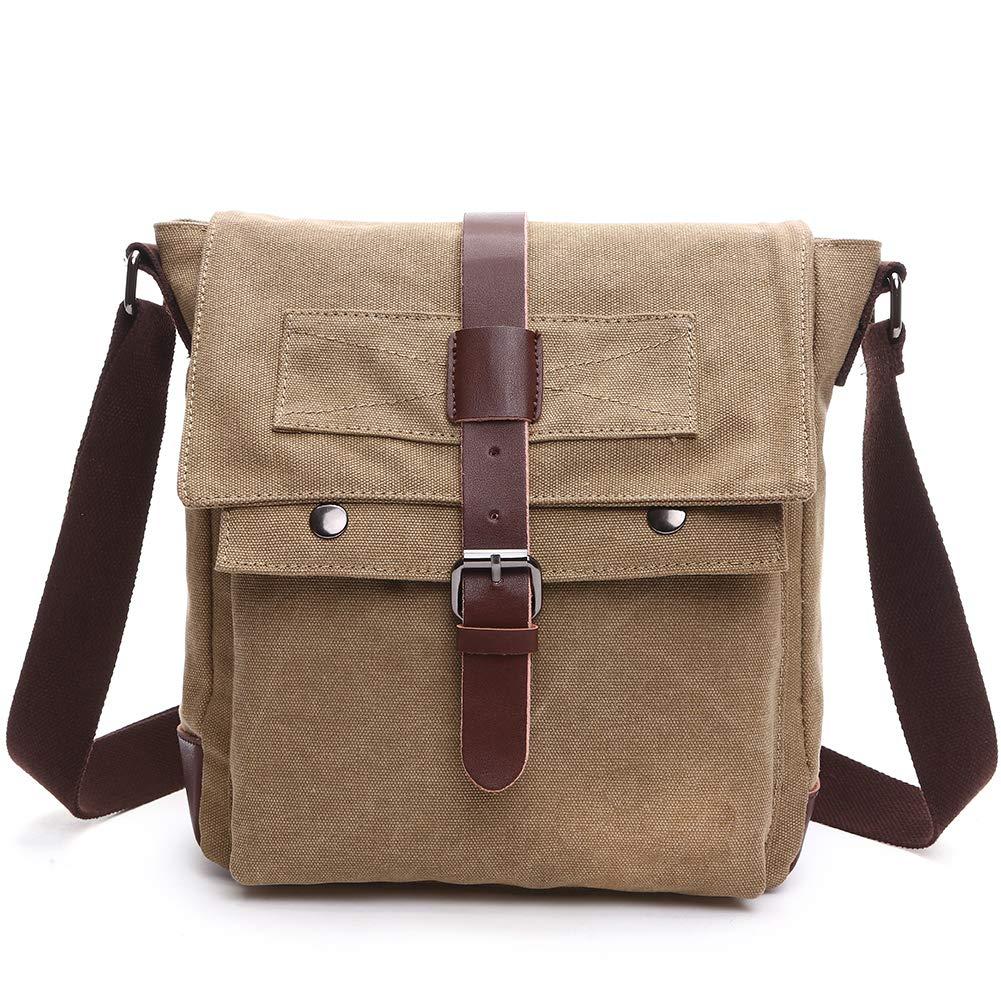 Duvence canvas unisex messenger bag Vintage shoulder bag purse for traveling