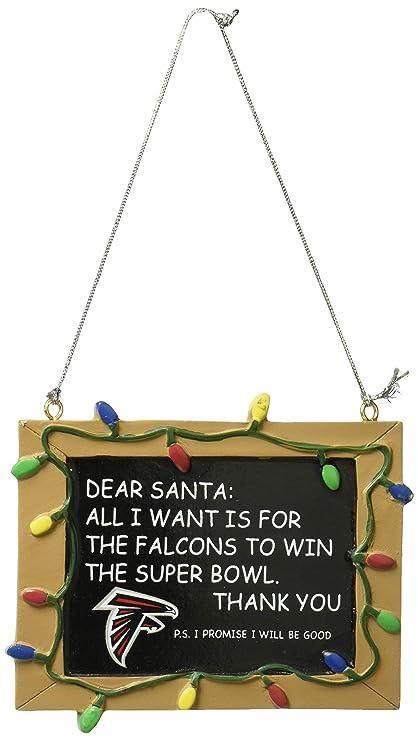 d28855cdcb758f Amazon.com : Atlanta Falcons Resin Chalkboard Sign Ornament ...