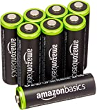 AmazonBasics AA Pre-Charged Rechargeable Batteries 2000 mAh/minimum: 1900 mAh [Pack of 8] - Outer Jacket May Vary