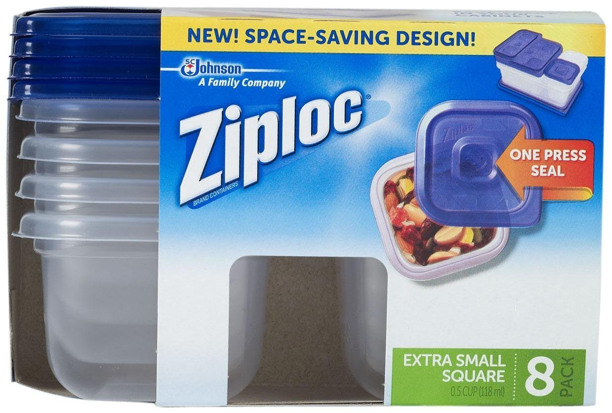 Amazon.com: Ziploc One Press Seal Extra Small Square Container   8 Ct:  Health U0026 Personal Care