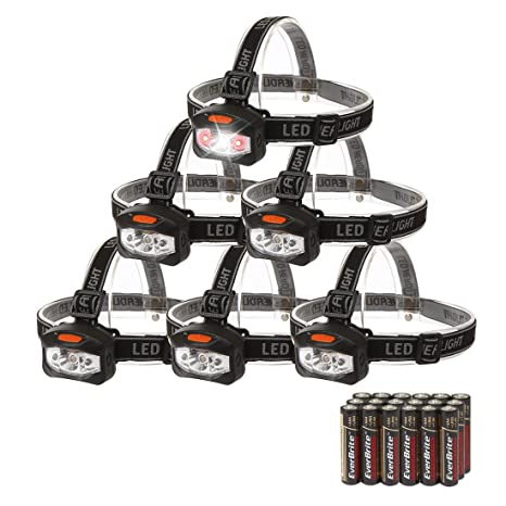 Review EverBrite 6-pack Headlamp LED