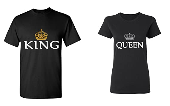 a131452513 Image Unavailable. Image not available for. Color: King & Queen - Matching  Couple Shirts ...