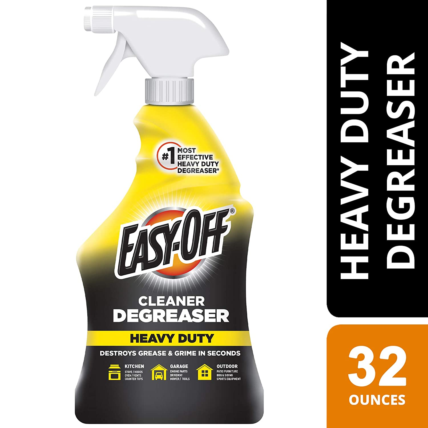 Easy Off Heavy Duty Degreaser Cleaner Spray, 32 Ounce