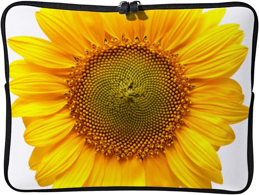 DKISEE Sunflower Laptop Sleeve Case Bag Cover Compatible 15 Inches Notebook MacBook Air MacBook Pro