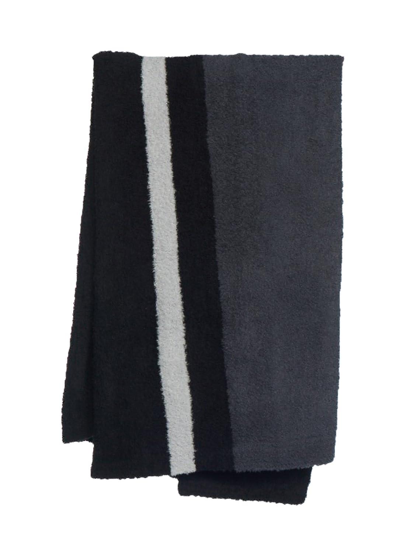 Barefoot Dreams CozyChic Block Stripe Throw Black//Slate Blue//Ocean B818