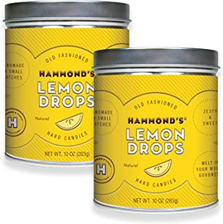 product image for Hammond's Candies - Old Fashioned Lemon Drops - 2- 10 Ounce Tins, Natural Lemon, Handmade in Small Batches and Frosted in Sugar, Handcrafted in the USA