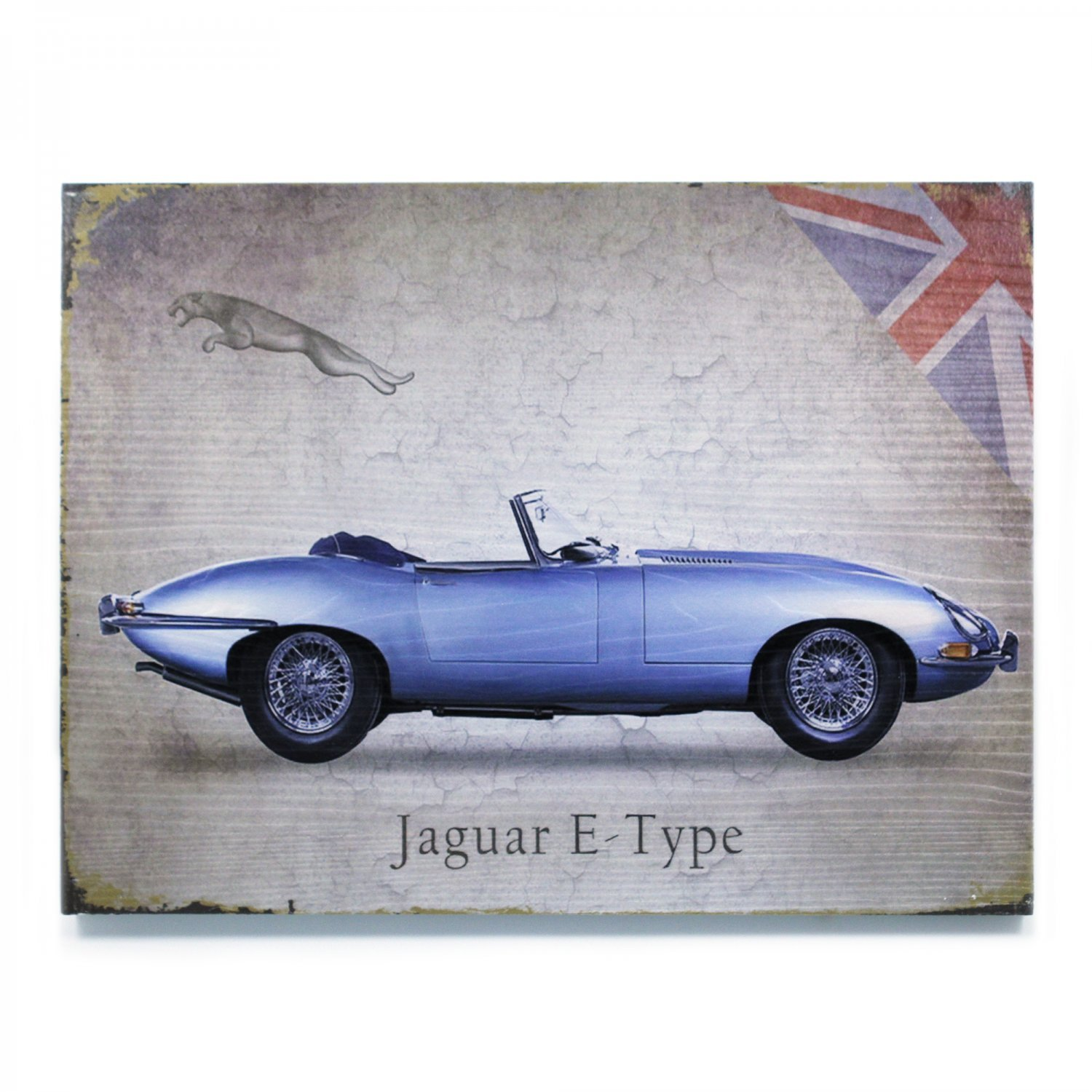 Vintage Parts 323944 Signature Jaguar Wooden Sign
