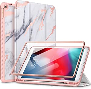 """SURITCH Case for iPad Air 3 2019/iPad Pro 10.5 2017, [Built in Screen Protector] [Auto Sleep/Wake] [Pencil Holder] Lightweight Leather Case Flip Cover with Stand for iPad Air 3/iPad Pro 10.5""""(Marble)"""