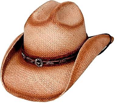 Montecarlo Bullhide Hats TRAIL BOSS Genuine Panama Straw Western Cowboy Hat  (Small) 8591c9f05f4