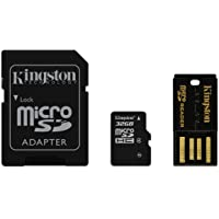 Kingston MBLY4G2/32GB - Tarjeta Micro SDHC de 32 GB, Clase 4, con adaptador SD y lector USB