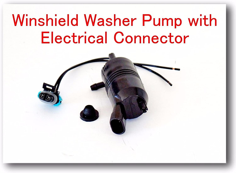 Chevrolet Silverado 1500 2007 22143196//89025062 Windshield Washer Pump with Electrical Connector FIts GMC SAVANA 1500 2007-2014 SAVANA 2500 2007-2016 SAVANA 3500 2007-2016 SAVANA 4500 2009-2016