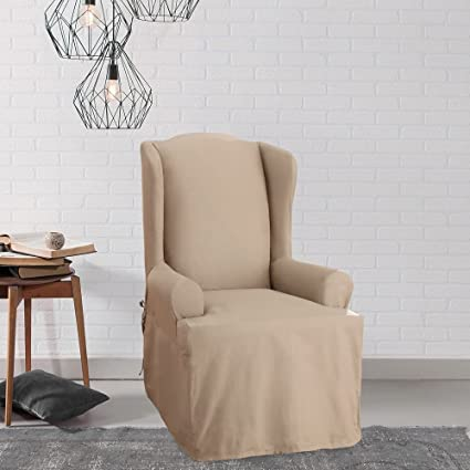 wing o slipcover chair