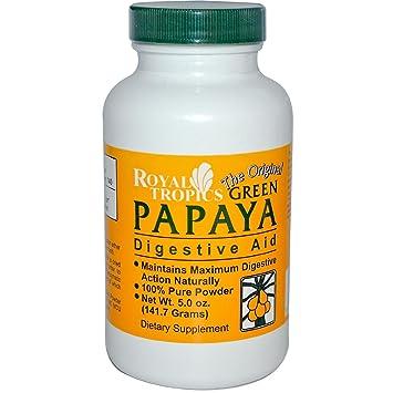 Green Papaya Digestive Enzymes Powder Royal Tropics 5 oz Powder