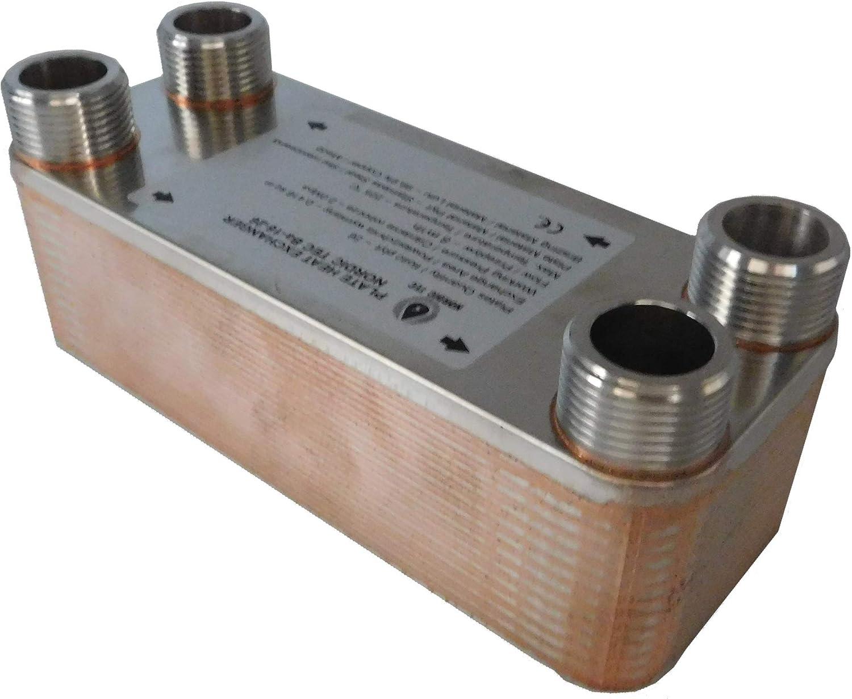 """Edelstahl W/ärmetauscher Plattenw/ärmetauscher NORDIC TEC Ba-16-34 1/"""" 34 platten 135kW"""