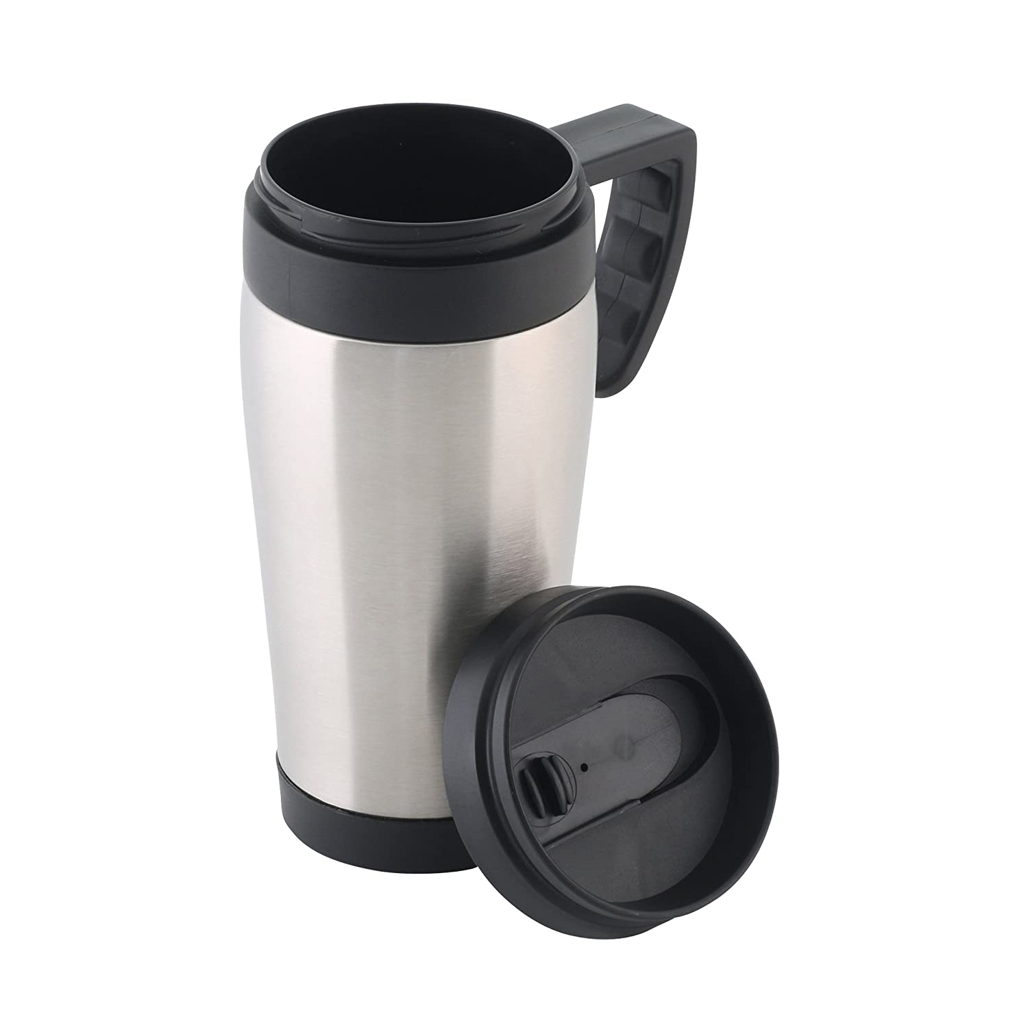 8813fc4e581 axentia Thermos Mug Stainless Steel - Travel Mug with Lid - Thermos Travel  Mug Black - Coffee Thermos Travel Mug for the Car - Home & Kitchen:  Amazon.co.uk: ...