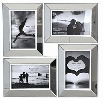 Spiegel Mit Bilderrahmen amazon de 35 x 35 bilderrahmen abgeschrägt spiegel 4 x 6 style