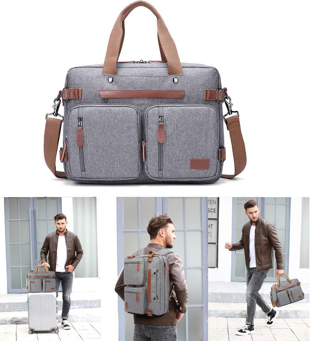 Laptop Messenger Bag, 17-inch Shoulder Laptop Bag with Durable Waterproof Nylon Multi-Functional Shoulder Laptop Backpack Fits 17.3 Inch Laptop for Men/Women Laptop Case Handbag Business Briefcase