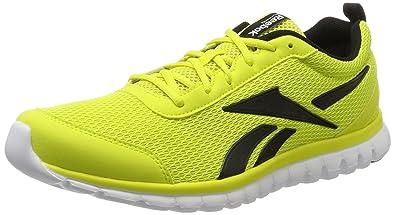 low priced 2e824 1e448 Reebok Men s Sublite Sport Running Shoes, Multicolor (Yellow Black White),