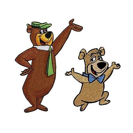 Amazon com: Set of 2 Yogi & Boo Boo Bear Iron On Patches
