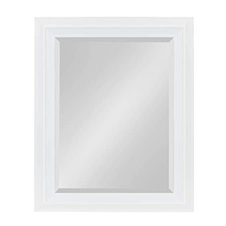 Kate and Laurel Whitley Framed Wall Mirror, 23.5×29.5, White