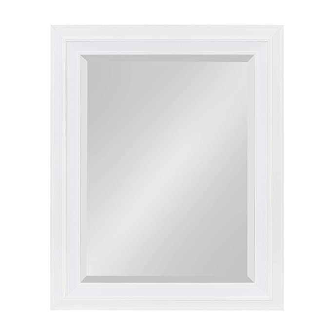 Kate and Laurel Whitley Framed Wall Mirror, 23.5x29.5, White