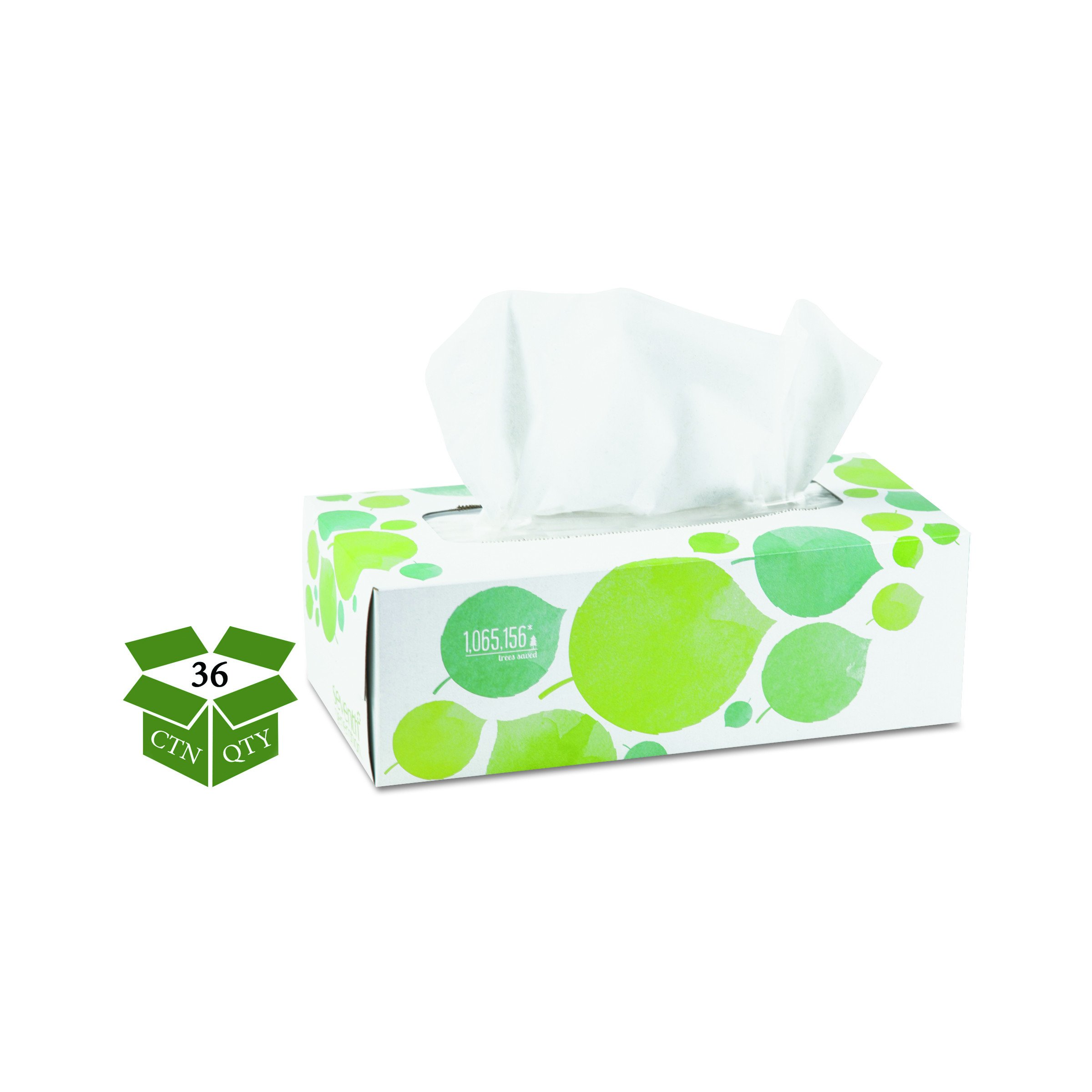 Seventh Generation 13712CT 100% Recycled Facial Tissue, 2-Ply, 175 per Box (Case of 36) by Seventh Generation (Image #1)