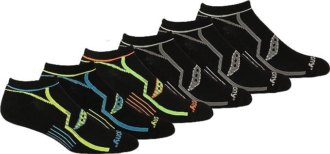 Saucony Men's Comfort Fit No-show Socks