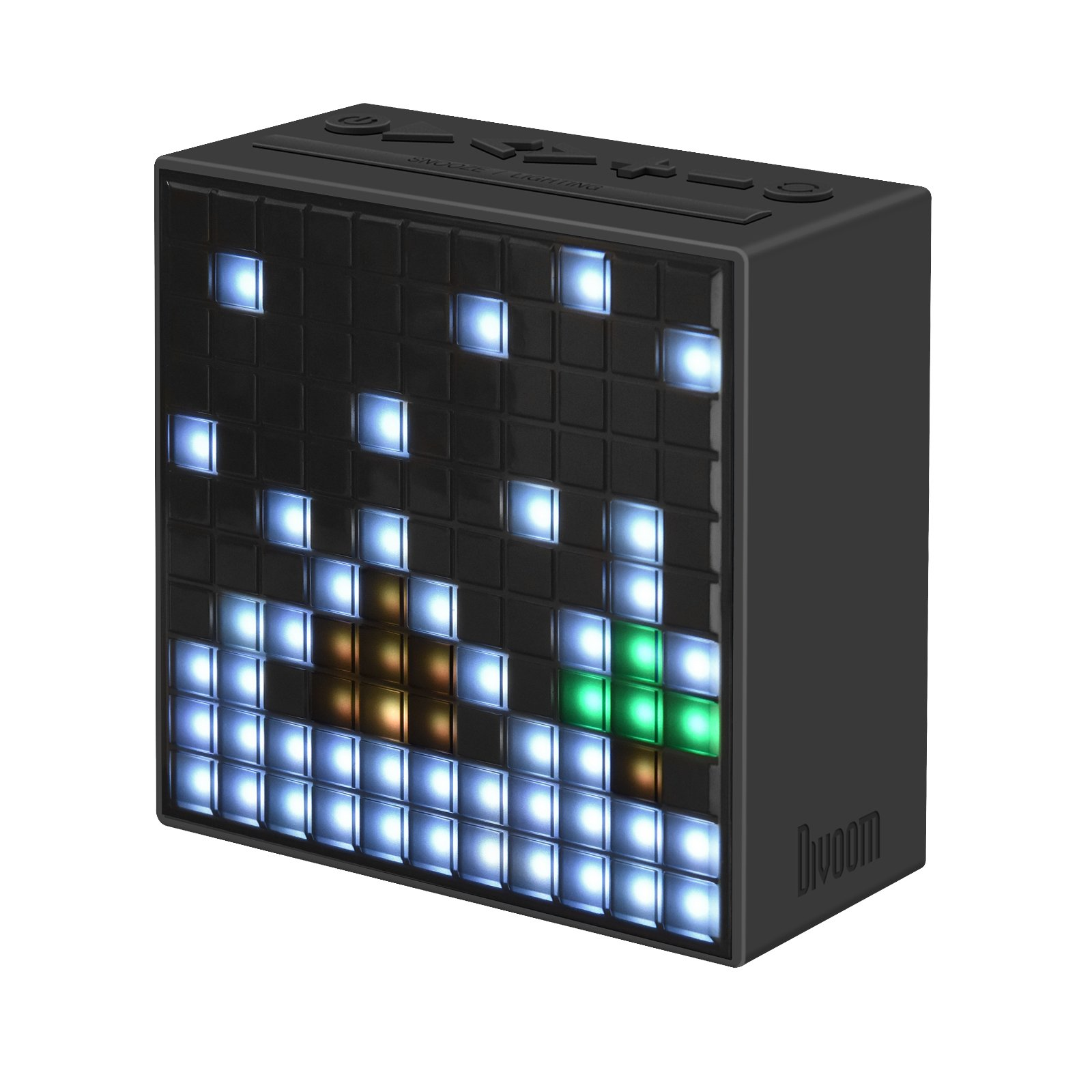 Divoom Timebox Smart Portable Bluetooth LED Speaker with APP-Controlled Pixel Art Animation, Notification and Build- In Clock/ Alarm - Black by Divoom