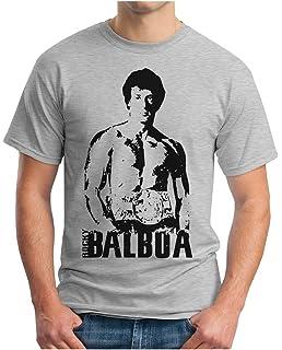 S Rocky Retro 4XL OM3/® T-Shirt Balboa The Italian Stallion 70s 80s Cult Boxing Movie USA