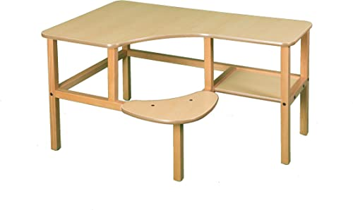Wild Zoo Furniture Childs Wooden Computer Desk for 1, Ages 2 to 5, Maple Tan