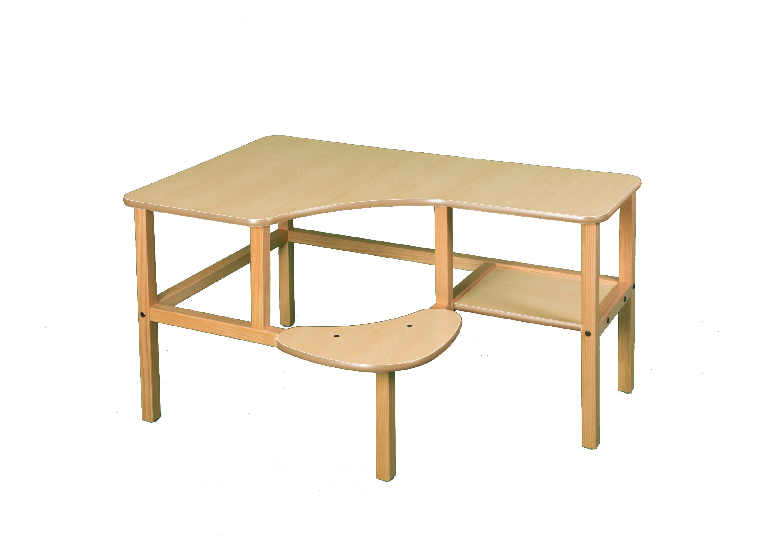 Wild Zoo Furniture Childs Wooden Computer Desk for 1, Ages 5 to 10, Maple/Tan