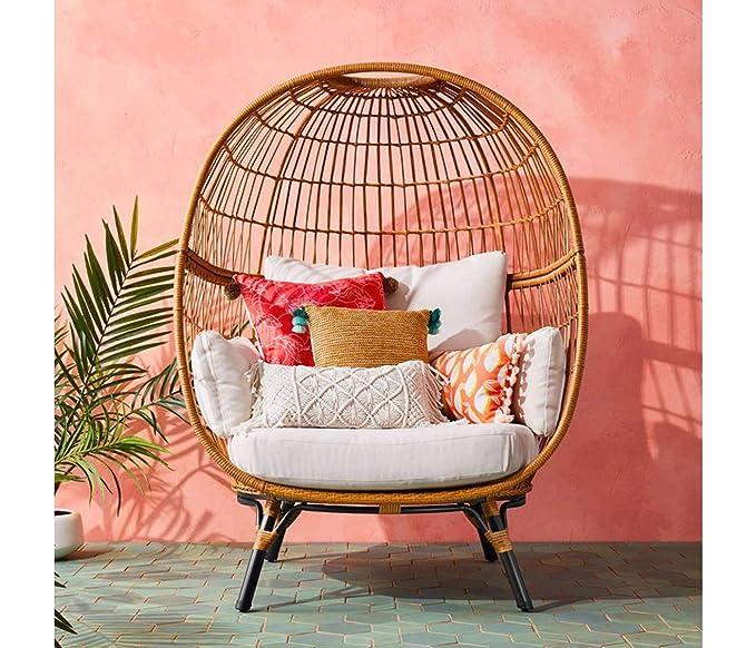 Surprising Amazon Com Opalhouse Southport Patio Egg Chair Linen Spiritservingveterans Wood Chair Design Ideas Spiritservingveteransorg
