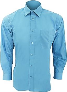 SOLS - Camisa de Popelina de Manga Larga para Trabajar Modelo Baltimore Hombre Caballero - Trabajo/Fiesta/Verano (Grande (L)) (Negro): Amazon.es: Ropa y accesorios