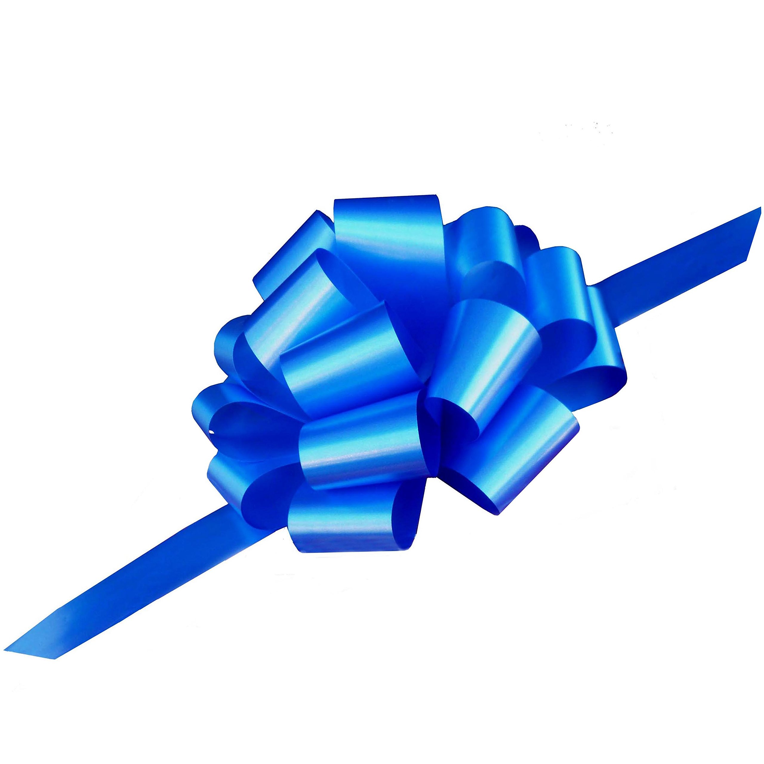 Large Royal Blue Ribbon Pull Bows - 9'' Wide, Set of 6, Police Support, Graduation, Awareness Décor, Christmas Ribbons
